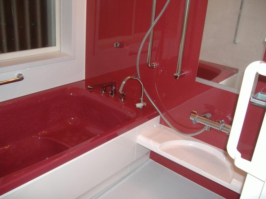 ユニットバスルームは赤がいい!